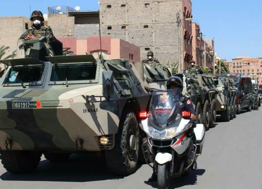 الجيش يحل مجدداً بمراكش لفرض حالة الطوارئ !