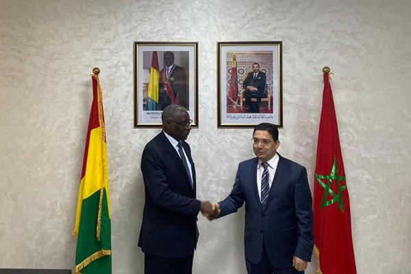 تهنئة أعضاء مجموعة الشباب الدبلوماسي والعمل الجمعوي بمناسبة استقلال جمهورية غينيا