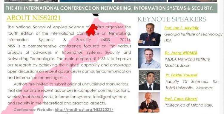 4ème Conférence internationale sur les réseaux, les systèmes d'information et la sécurité NISS'21